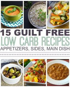 15 Guilt Free Low Carb Recipes on This Gal Cooks #lowcarb #healthyfood