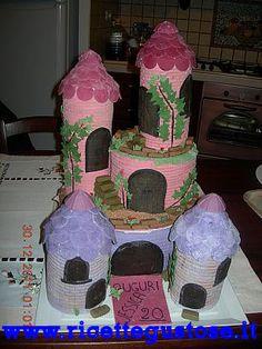 Torta castello pasta di zucchero e pasta di gomma .