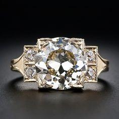 3.70 Carat European-Cut Diamond Ring ... Beautiful! Repined by Joanna MaGrath
