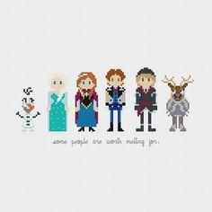 Disney Princess Frozen Cross Stitch Pattern by pixelsinstitches, $6.00