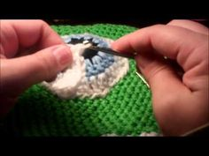 Tutorial Crochet Monster Inc. Mike Wazoski beanie - YouTube