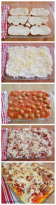 Meatball Sub Casserole-- make with homemade sourdough, meatballs and sauce