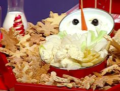 Cute snow man face dip.