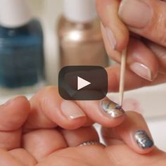 oil slick by essie - Celebrity manicurist Michelle Saunders demonstrates how to get the essie oil slick nail art look created for the Rebecca Minkoff Fall/Winter 2013 show at New York Fashion Week.