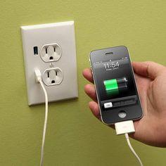 ThinkGeek :: U-Socket USB Wallplug