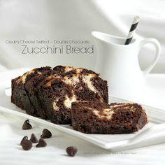 Cream Cheese Swirled Double Chocolate Zucchini Bread