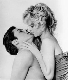 Alain Delon and Brigitte Bardot for the movie - Famous Love Affairs -1961.