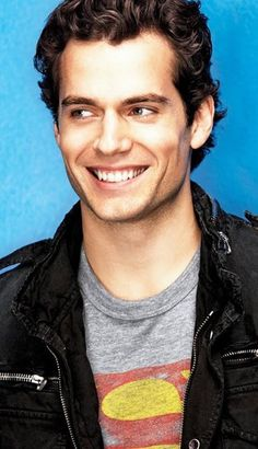 Henry Cavill - Man of Steel. That smile... I think my heart just melted a little.