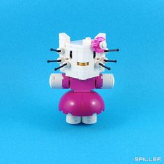 Hello Kitty LEGO cubedude by Spiller's Lego, via Flickr
