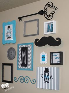 Little Man's Nursery: Gallery Wall #littleman #nursery #gallerywall