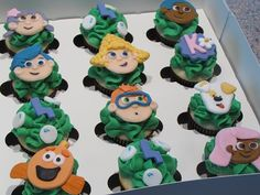 bubble guppies cupcakes @Jessica Jackson