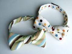Baby bow tie tutorial