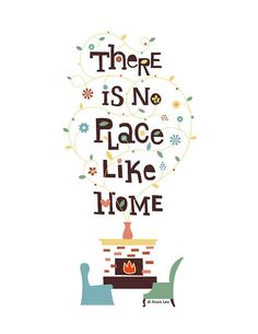 There is no place like home  art print  digital  by twinklearts, $20.00