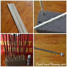 DIY Magic Wands {from dowels and hot glue}