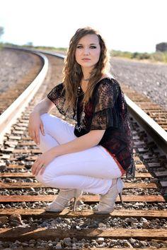 train tracks senior photography