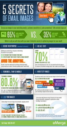 Secrets of Images in Email Marketing #Infographic #SMM #EmailMarketing #Marketing