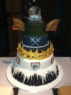 Game of Thrones End of Season Wrap Party Cake