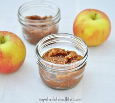 Apple Spice Refrigerator Jam.  Super easy jam with all the warm flavors of fall.  No boiling, pectin or processed sugars.  Vegan and gluten free.