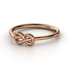 18K Rose Gold Ring  | Forget Me Knot Ring | Gemvara i want this. so cute.
