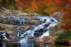 Autumn Comes to Rocky Falls, via Flickr.