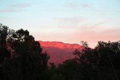 At Ojai Valley Inn & Spa in Ojai Valley, California gazing at the Pink Moment.