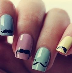 Mustache nails. I mustache you a question...have you RSVP'd to our next #WomenWednesday