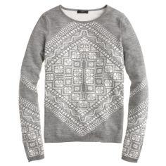 jcrew grey and white sweatshirt - love!