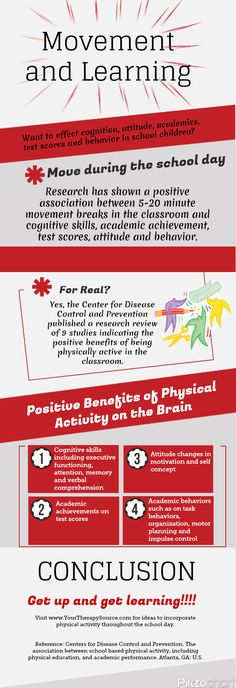 Movement in the Classroom Infographic