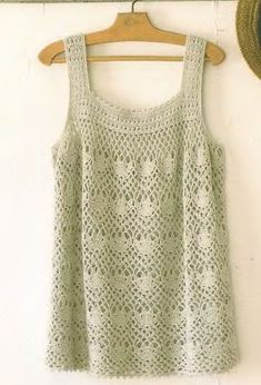 tank top, crochet tank