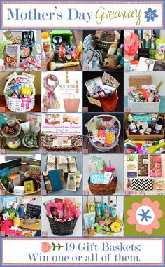 Mother's Day Gift Basket Giveaway - 19 Different Baskets! Come enter to win one (or all) baskets. Ends 4/28/14