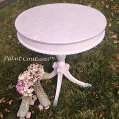 Painted table using