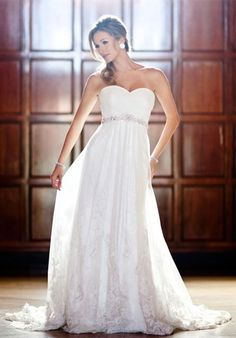 I ADORE this! It would fit my outdoor wedding! And the flowiness is beautiful and the lace bottom just sets it off!