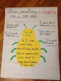 Ways to deal with anger anchor chart (picture only)