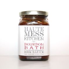 Bourbon Bath Ultimate Whiskey BBQ Sauce from Haute Mess Kitchen