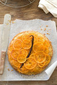 glazed orange almond cake  