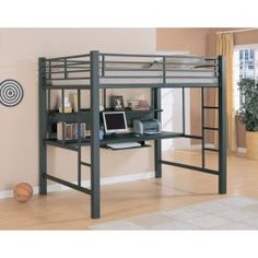 Coaster Youth Full Workstation Loft Bed in Black $664.00