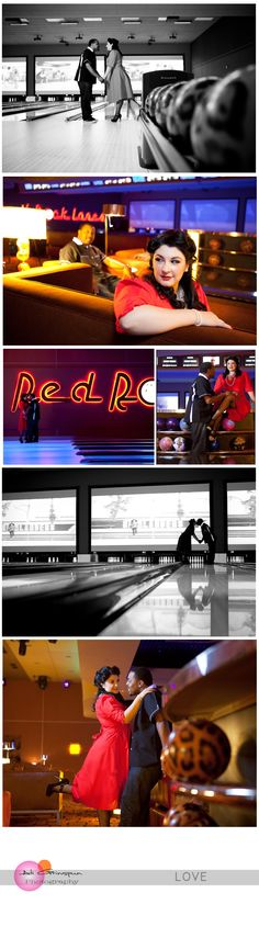 Couple At bowling alley  photoshoot