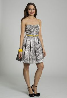 Short Dresses - Strapless Print Dress from Camille La Vie and Group USA