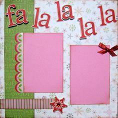 Scrapbook Layout Christmas Scrapbooking Page Kit. $6.99, via Etsy.