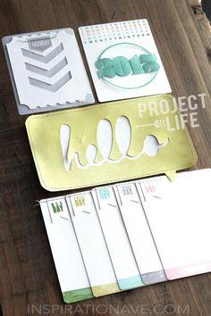 Project Life Cards #calendar #days #of #week #scrapbook #layout #journal #card