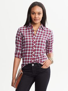 Plaid Flannel Shirt | Banana Republic
