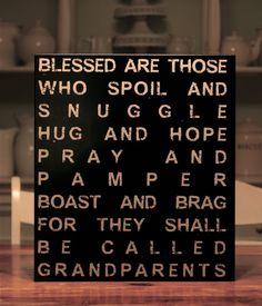 Grandparents Blessing. Gift ideas?