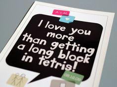 "Custom Wedding / Anniversary Print - ""Tetris"""