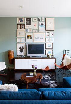 living room art wall // smitten studio
