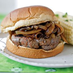 Superfast Italian Recipes | Onion-Smothered Italian Burgers | CookingLight.com