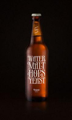Typographic beer label