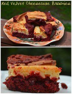Red Velvet Cheesecake Brownie recipe - Red Velvet meets cheesecake meets brownies. How could this not be good?