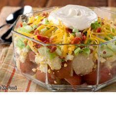 Seven Layer Potato Salad   Best Recipes Try