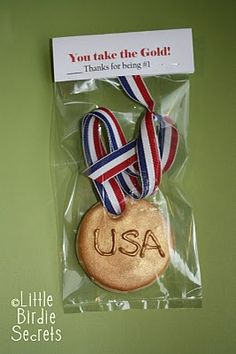 Olympic gold medal cookie