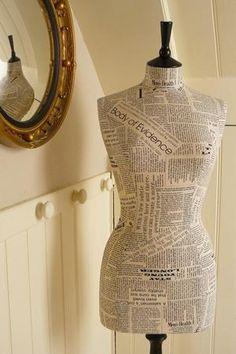 word art dress form